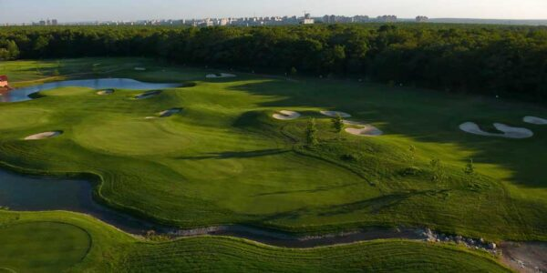 Харьков Аэрофотосъемка поля для гольфа Украина