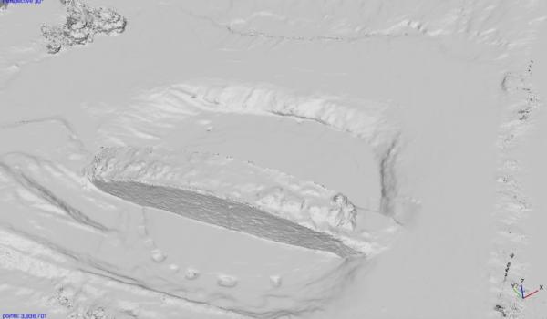 Съемка с дрона Цифровая модель археологического памятника Турецкая могила Харьков