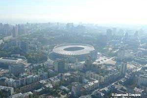 Съемка с дрона Олимпийский Аэрофотосъемка Киева Республиканский стадион с высоты птичьего полета