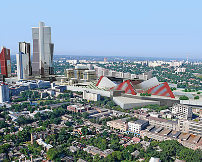 Харьков с высоты. Архитектурная визуализация на основе аэрофотосъемки