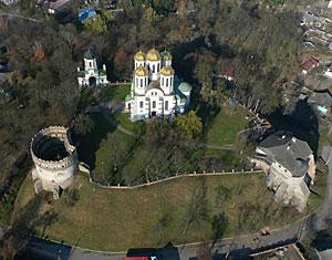 Съемка с дрона Аэрофотосъемка Острожский замок. Ровенская область Украина