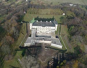 Аэрофотосъемка съемка с дрона Подгорецкий замок. Львовская область, Украина