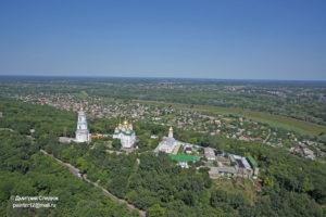 Съемка с дрона Аэрофотосъемка Крестовоздвиженского монастыря в Полтаве, Украина. Лето 2012 года