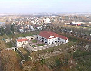 Съемка с дрона Аэрофотосъемка замок Збараж. Тернопольская область, Украина