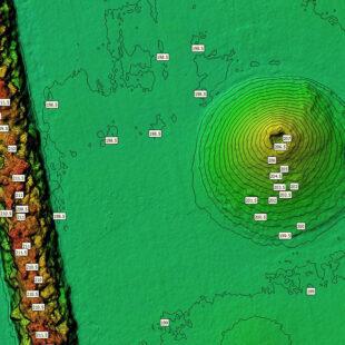 Карта высот с изолиниями