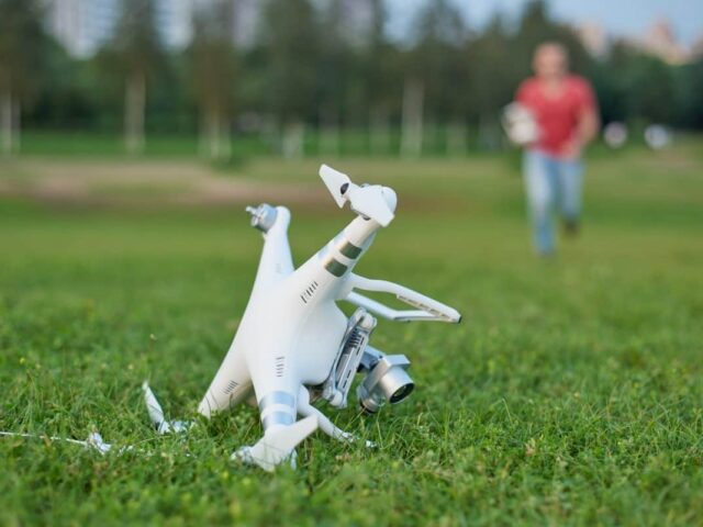 Авария дрона DJI Phantom