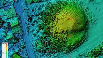 Карта высот с изолиниями Курган Хомякова могила