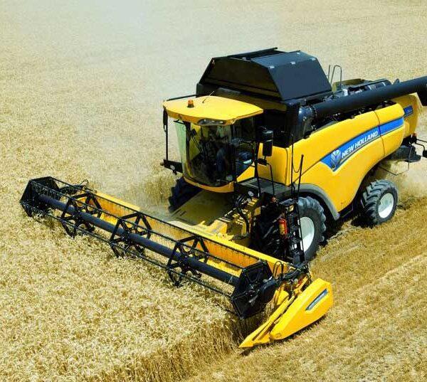 Комбайн New Holland с системой картирования урожая
