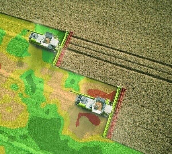 Камбайн с картированием урожая