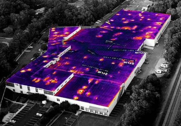 Тепловизор на дроне Инспекция крыши
