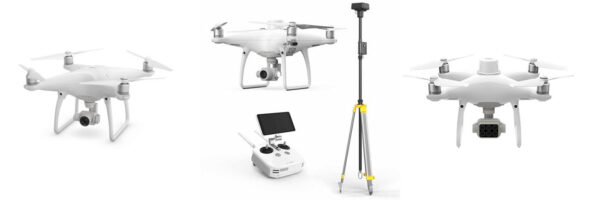 "Представители семейства DJI Phantom. ""Phantom 4 PRO"", ""Phantom 4 RTK"", ""Phantom 4 Multispectral"""