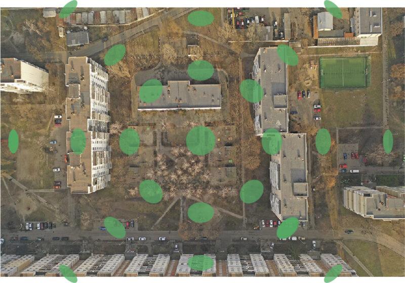 Искажения длин и площадей на плановом снимке с дрона