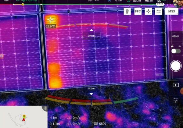 Тепловизионная съемка с дрона. Поиск поврежденных ячеек